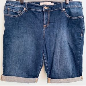 Torrid Dark Wash Blue Jean Shorts Women's Size 18